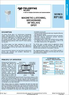 Rf180 5 Datasheet Specifications Manufacturer Teledyne