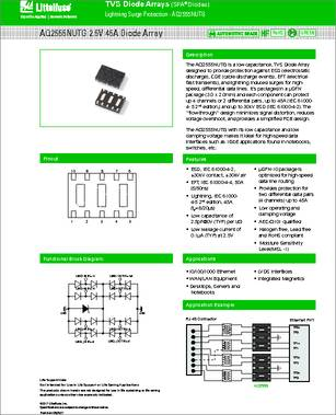 b6d0f1d19 Some Part number from the same manufacture Littelfuse. AQ3045-01ETG Littelfuse  AQx Series AEC-Q101 TVS ...