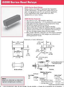 2200-2302 COTO TECHNOLOGY RELAY RF SPST 500mA 5 VOLT