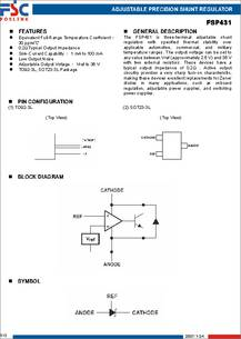 Fsp431c Datasheet Adjustable Precision Shunt Regulator