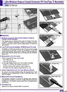 Mmcx Lr Smt Datasheet Ultra Miniature Snap On Coaxial