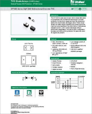 LITTELFUSE ESD PROTECTION ARRAY SP1007-01ETG SOD-882 6V