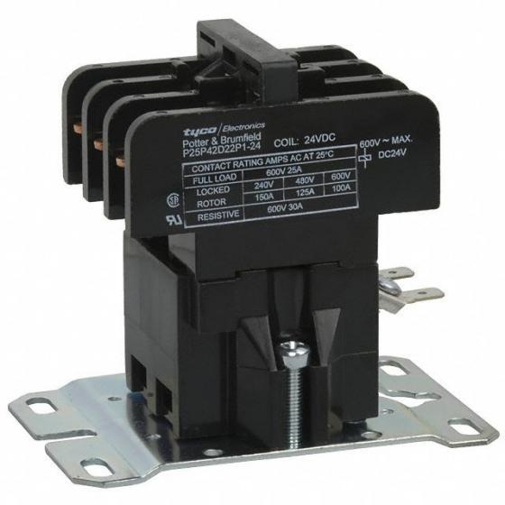 24VDC Potter /& Brumfield P25P42D12P1-24 Contactor