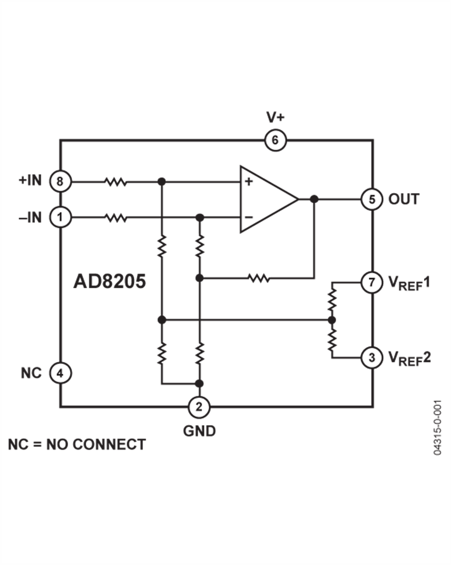 Ad8205 Datasheet The Is A Single Supply Difference Amplifier Singlesupply Instrumentation Photo