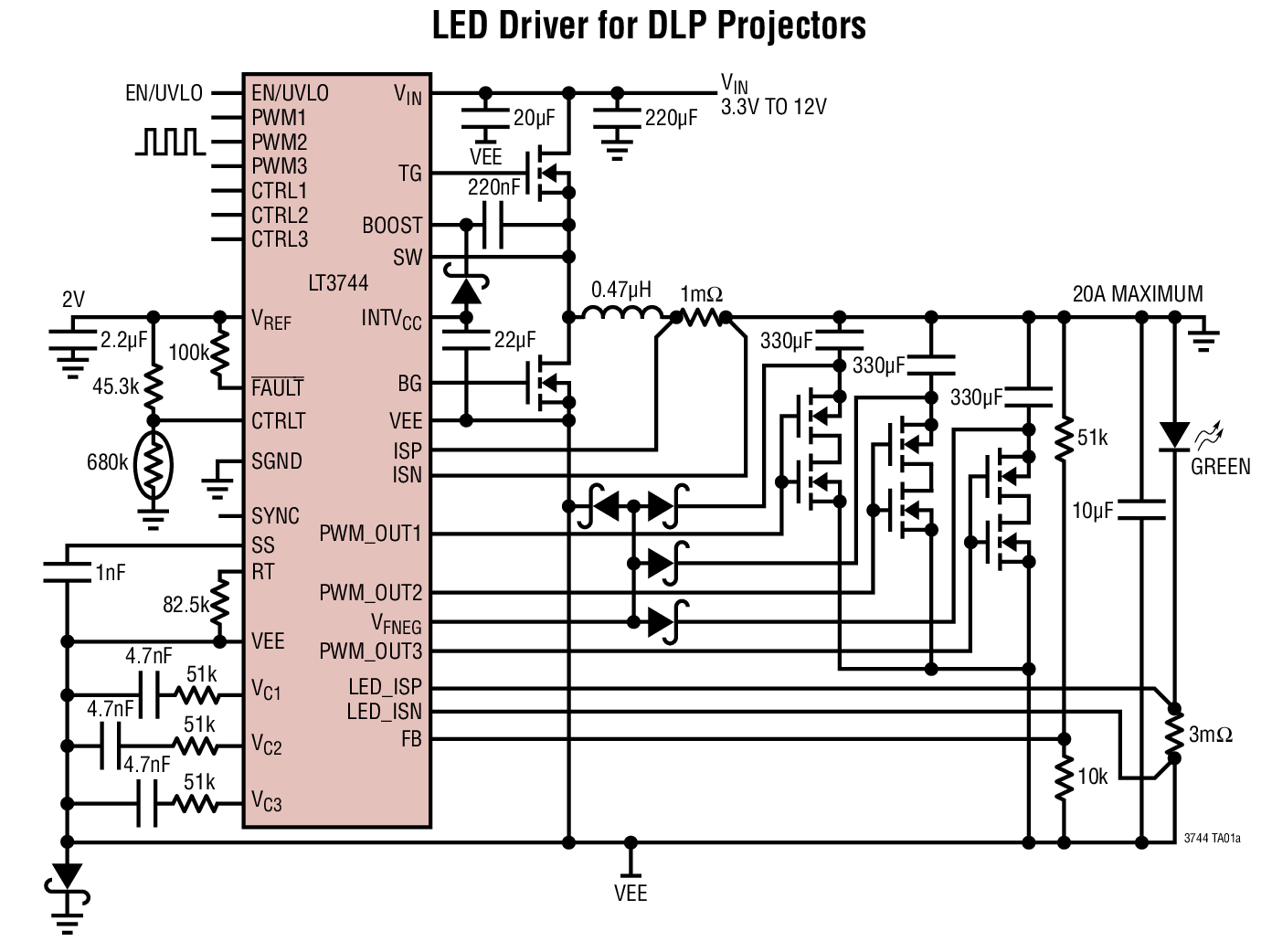 Lt3744 Datasheet The Is A Fixed Frequency Synchronous Step 3v Led Driver Circuit Photo