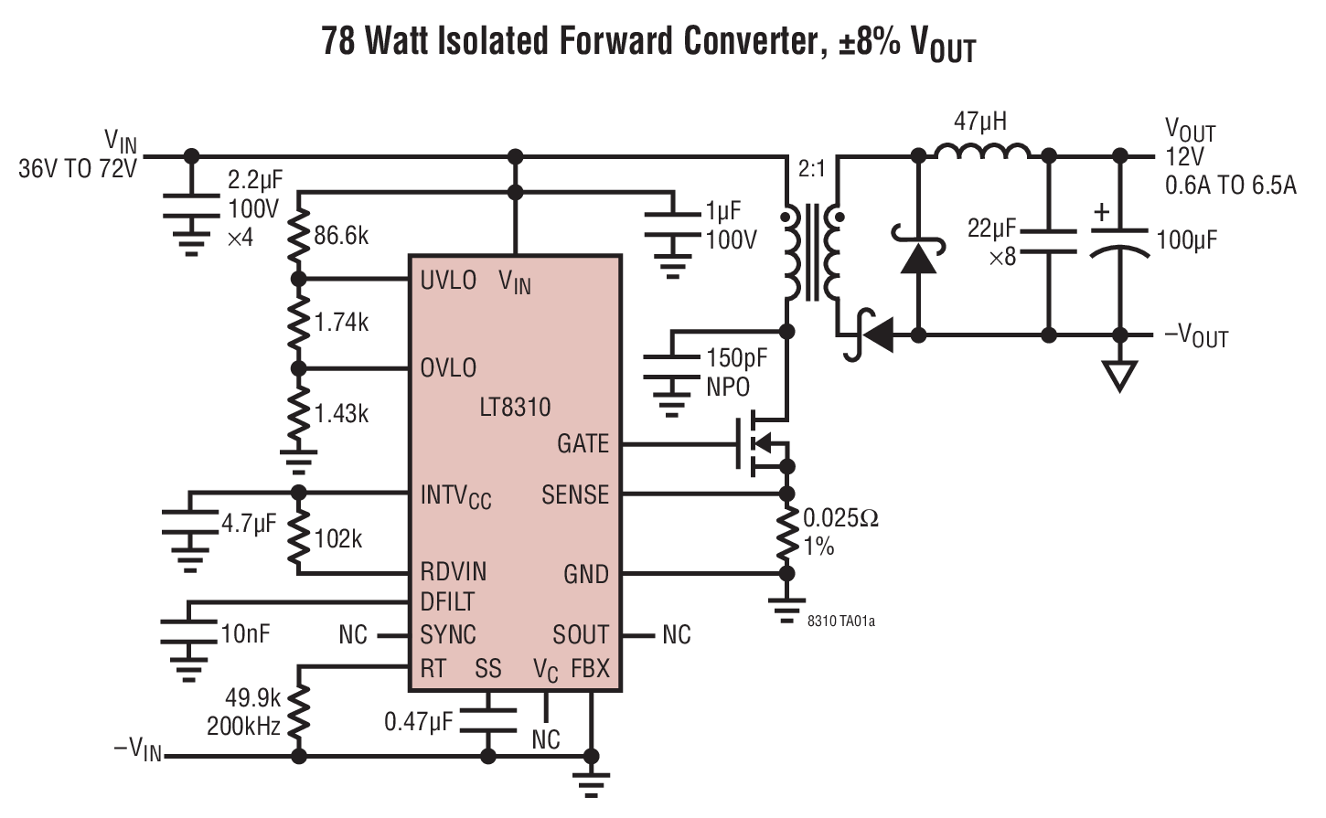 Lt8310 Datasheet The Is A Simple To Use Resonant Reset Forward Linear Opto Isolator Circuits Photo