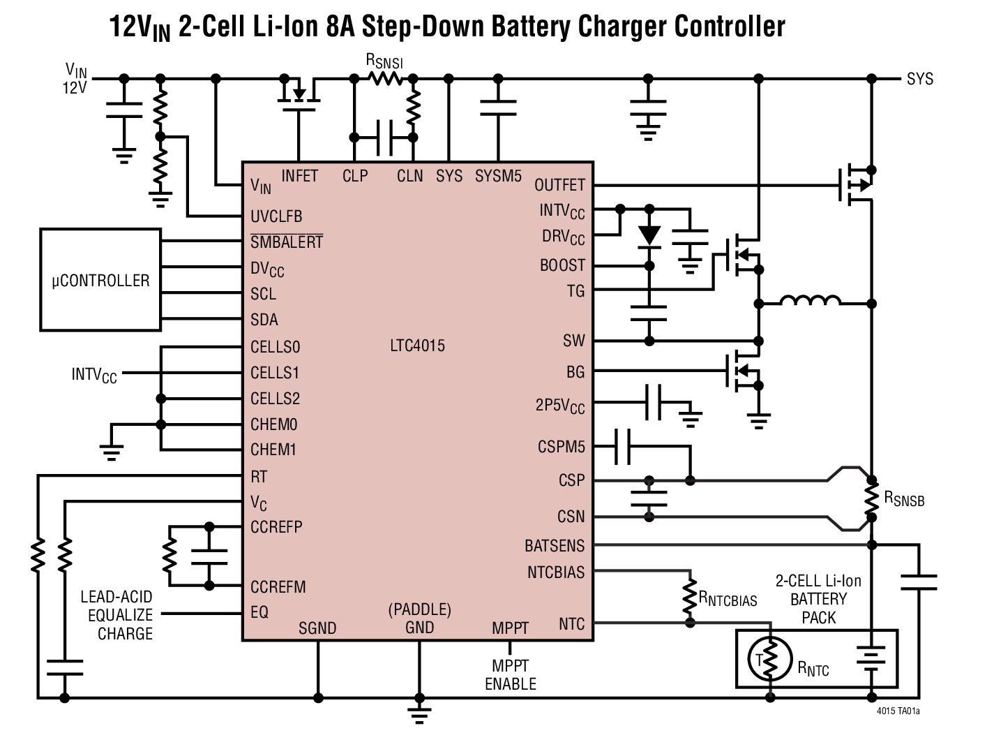 Lithium Battery Charger Circuit Diagram Ltc4015 Datasheet The Is A Complete Synchronous Buck Photo