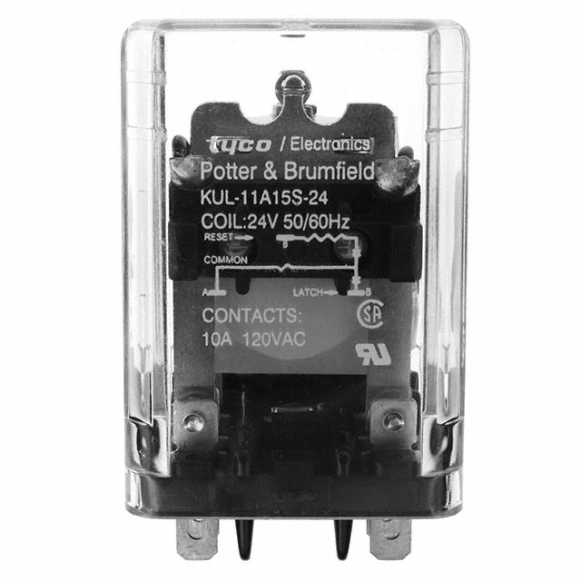 Potter and Brumfield TE Connectivity KUL-11A15S-12 Panel Plug-in Relay