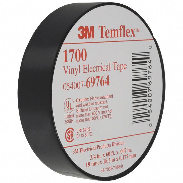 "3M BLACK ELECTRICAL TAPE TEMFLEX 1700 3//4/"" X 60 FT 10 ROLLS FAST FREE SHIPPING"