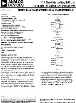 ADM3485EARZ datasheet - Specifications: Family: Interface - Drivers
