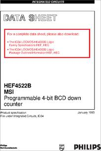 hef4522bp datasheet ic 4000 locmos rh digchip com