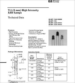HLMP-1521 datasheet - Led 3mm Green