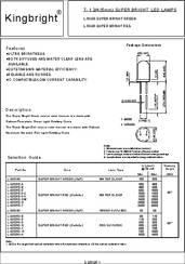 L-53SGCDMP0.0579 datasheet - Led 5mm Ultra-green