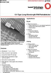 Lucent 131-Type Long-Wavelength PIN Photodetector