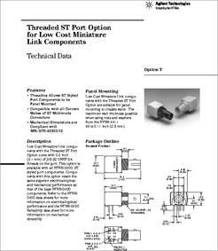 HFBR-1412T datasheet - Low Cost, Miniature Fiber Optic Transmitter