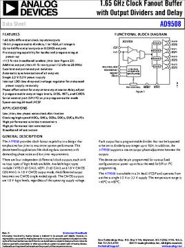 AD9508 datasheet - The AD9508 provides clock fanout