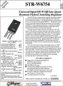 STRW6754 datasheet - Universal-input/100 W Off-line Quasi