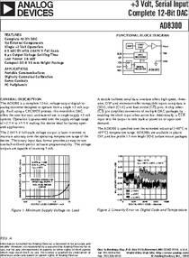 AD8300 Serial Input Complete 12-Bit DAC +3 Volt IC