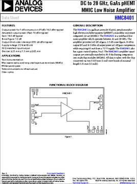HMC8401-SX datasheet - Analog Devices HMC84xx product family