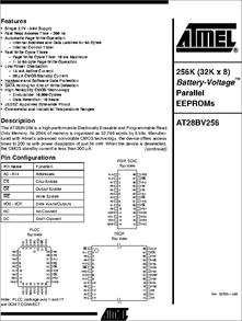 AT28BV256-20PC datasheet - 256k (32kx8) Battery-voltage(tm