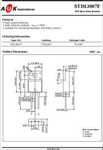 D13007 datasheet - NPN Silicon Power Transistor