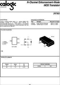 X2N7002 datasheet - N-channel Enhancement-mode MOS Transistor