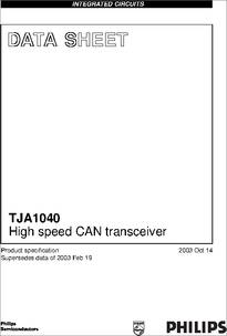 TJA1040T/VM,518 datasheet - Specifications: Number of Drivers