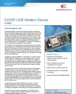 DOWNLOAD DRIVER: CONEXANT SMART HSF MODEM