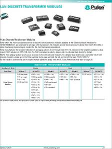 HX1188 datasheet - LAN Discrete Transformer Modules