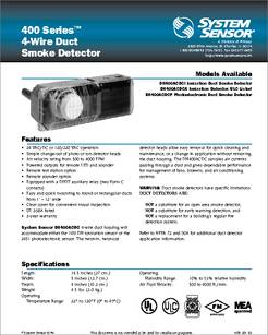 1451DH datasheet - 4-wire Duct Smoke Detector on