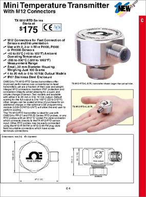 tx m12 rtd datasheet omega s tx m12 rtd series transmitters some part number from the same manufacture omega engineering