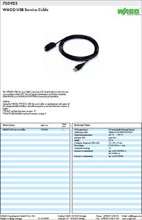 Wago usb service cable