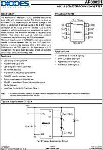 ap8802hsp 13 datasheet the diodes inc ap8802h 60v 1a led step rh digchip com