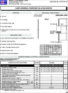 1N4001-1N4007 datasheet -