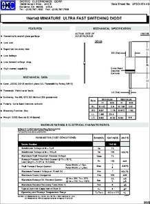 1N4148 datasheet - Small Signal si Diode