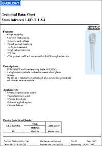 IR7373C datasheet - 5mm Infrared LED, T-1 3/4
