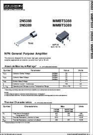 2N5089 datasheet - NPN General Purpose Amplifier