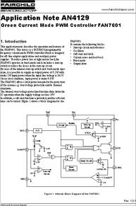 AN4129 datasheet - Green Current Mode PWM Controller Fan7601