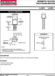 L14f1 Phototransistor Datasheet Pdf