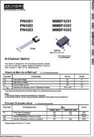 MMBF4091 datasheet - JFET