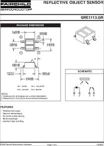 Qre1113 datasheet reflective object sensor some sciox Images