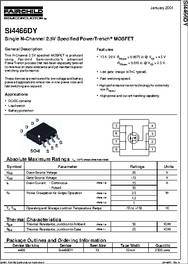 Si4466 Datasheet Single N Channel 2 5v Specified