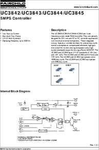 UC3845 datasheet - SMPS Controller