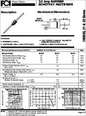 In5822 Datasheet 3 0 Amp Barrier Schottky Rectifiers