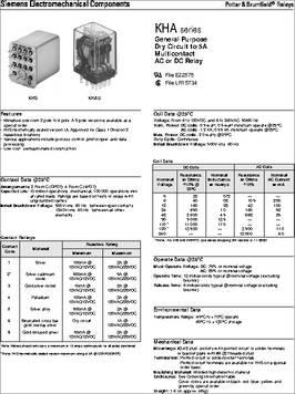 POTTER /& BRUMFIELD KHAU-17D12-24 RELAY