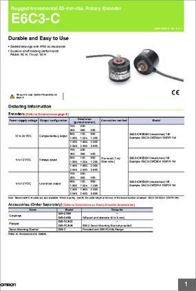 New Omron E6C3-CWZ3XH 1000P//R Incremental Rotary Encoder in Box