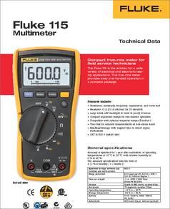 инструкция Fluke 115 - фото 4
