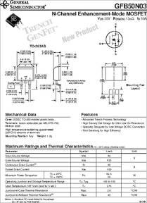 GFB50N03 datasheet - N-channel Enhancement-mode MOSFET
