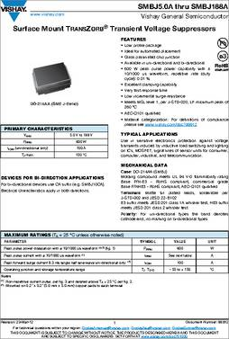 Transient Voltage Suppressors 130V 600W UniDir TransZorb TVS 50 pieces TVS Diodes