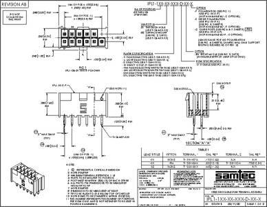 2.54MM THOUGH HOLE VERTICAL 100 pieces 20 POSITION SAMTEC TSW-110-05-L-D-LL HEADER